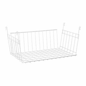 ClosetMaid 17 Inch Wide Hanging Basket for Wire Shelving Closet Organizer, White