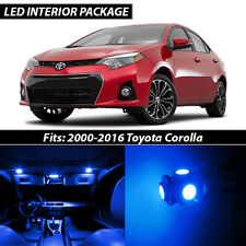 2000-2016 Toyota Corolla Blue Interior LED Lights Package Kit