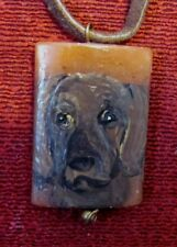Plott Hound hand painted on Red Adventurine pendant/bead/neckalce