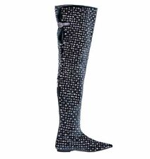 Flat (0 to 1/2 in.) Leather Over Knee Boots for Women