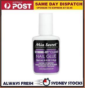 Mia Secret Jet Clear Nail Tip Glue Brush On Nail Resin SECURE NAIL ADHESIVE
