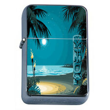 Tiki Statues D6 Windproof Dual Flame Torch Lighter Polynesian