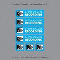7 x Dash Cam Recording Stickers CCTV In Car Video Camera Decal Sticker - SKU3106