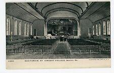 Auditorium Interior—St Vincent College BEATTY Antique—Latrobe—Westmoreland Co