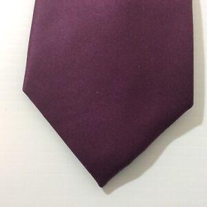 Vesuvio Napoli MENS TIE NECKTIE 3.5 in Italy Purple 100 % Polyester
