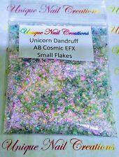 Solvent-Resistant-AB Cosmic EFX Flakes~Unicorns Dandruff-Nail-Polish-Acrylic-Gel