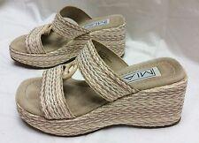 Mia Girl's slide wedge Kids sz 1M Cream/Natural  Women's petite shoes 2 1/2-3
