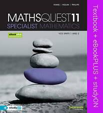 Maths Quest 11 VCE Specialist Mathematics & Ebookplus by Raymond Rozen, R. Evan…