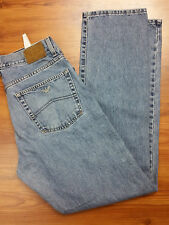 Armani Indigo 001 Series Classic Straight Mens Jeans sz 34 x 33 Made in ITALY