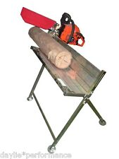 CHAINSAW LOG HORSE TABLE SAW TRESSLE STAND HOLDER CHAIN BENCH FIREWOOD CUTTING
