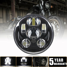 """DOT Approved 5 3/4 in 5.75"""" inch LED Headlight Black Sealed Beam for Harley Dyna"""