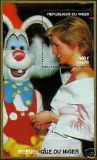 LADY DIANA, PRINCESS OF WALES WITH ROGER RABBIT