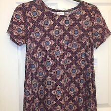 LuLaRoe Carly Dress, Size XXS, Geometric, Purple Pink Teal, Unicorn, NWT