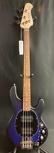 Sterling by Music Man StingRay RAY4HH 4-String Bass Guitar Pacific Blue Burst Sa