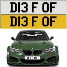 DIE F*** OFF RUDE NAUGHTY CHEEKY BAD EVIL MEAN BMW FUNNY PRIVATE NUMBER PLATE