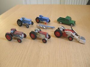 Vintage Corgi farm Massey Ferguson & Ford tractors lot *spares & repairs*