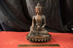 Heavy Purple Bronze Shakyamuni 11.5 x 6 x 7.5 inches. 11 lbs. 5 oz.