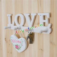 Love 4 Colgaderos titular de la clave decoración de la pared Sombrero Percha