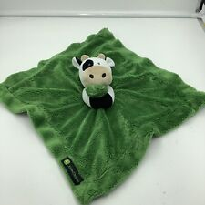 John Deere Cow Security Baby Lovey Green Plush Blanket  Soother Soft Plush