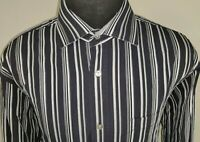 Bugatchi Uomo Mens Classic Fit Long Sleeve Button Down Shirt Size XL Striped