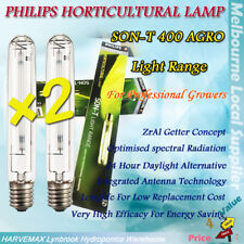 2x Philips Horticultural lamp SON-T 400W HPS Master Agro Hydroponics Grow Light