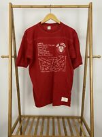 VTG 80s Fat Jack's Shag Contest Athletic Short Sleeve Red T-Shirt Size XL USA