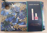 Karen Millen Sleek & Polished Gift Set Nail Lacquer Lip Gloss in Tiger Print Bag