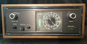 VINTAGE SANSUI TU-555  AM / FM Stereo Tuner w/ Original Wood Cabinet -Excellent