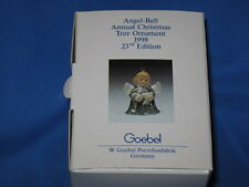 1998 Goebel Angel Bell Ornament Yel 00004000 low with Lamb in Box