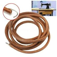 """68"""" 3/16"""" Leather Belt Treadle Parts with Hook For Sewing Machine V3T4"""