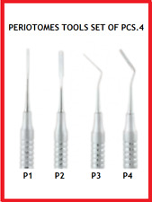 DENTAL INSTRUMENT TOOLS PERIOTOMES TOOLS SET OF PCS.4 CLEANING DRYING CHECKING