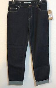 Woolrich SALE NWT Women's 1830 Slim Fit Dark Indigo Rinse Denim Jeans, Size 8S