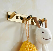 Wall Mounted Hook Towel Clothes Hat Coat Holder Bathroom Accessories Hanger Gold