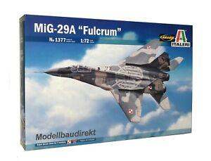 MIG-29A - Fulcrum - Flugzeug Maßstab 1:72  Bausatz Italeri Nr. 1377 NEU & OVP