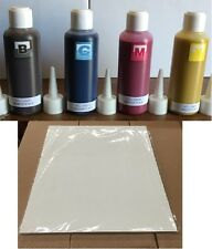 4 X 100 ML SUBLIMATION INK REFILL PACK FOR EPSON + 100 SHEETS SUBLIMATION PAPER
