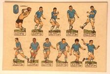 Cartolina Calcio Napoli Squadra Illustrata
