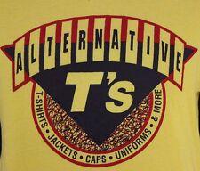 Screen Stars Paper Thin 50/50 XL Cotton Poly Alternative T's Yellow T-Shirt VTG