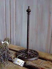 Küchenrollenhalter Küchenpapierhalter Metall Gußeisen Antik Vintage Shabby braun