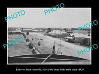 OLD LARGE HISTORIC PHOTO LAMEROO SOUTH AUSTRALIA, THE MAIN STREET SHOPS c1920