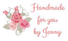 Personalised Labels Pink Rose / Address / handmade / design 282 (set 260)
