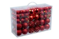 Pack of 100 Christmas Tree Decorations Christmas Baubles Gold Red or Silver