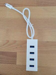 AmazonBasics USB 3.1 Type-C to 4 Port USB Adapter Hub (White) - Free Shipping