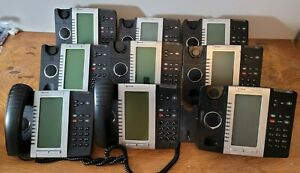 LOT OF 9 Mitel 5330e 50006476 Backlit LCD Business Office IP Phones With Stands