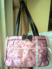 HELLO KITTY Handbag Tote Shoulder Bag Black/Piink.