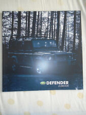 Land Rover Defender Accessories brochure Dec 2004 German text