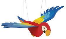 Coloré en bois toy hanging nursery flying battement perroquet oiseau mobile