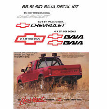 CHEVROLET S-10 S10 BAJA DECALS STICKER DECAL 4X4 CHEVY PICKUP CHEV  BOWTIE