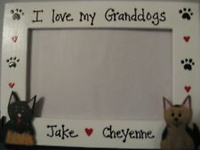 Dog Frame PERSONALIZED - I LOVE MY Granddogs - custom pet photo picture frame