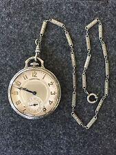 Hamilton Grade 912 12S 17j 14K Gf Adj Pocketwatch Running Original Case w/ Chain