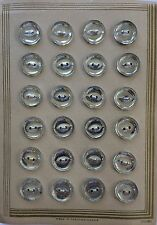 Vintage Buttons - 1930's 24 Mirror Backed 2-hole Czech Glass buttons
